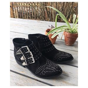 NWOT Chic Suede Studded Bootie
